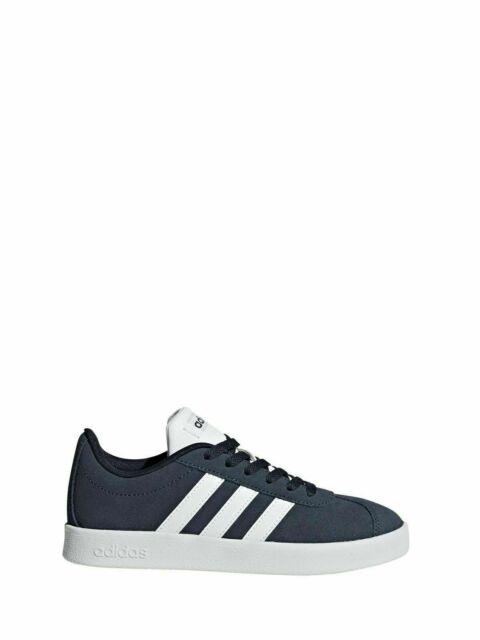 Scarpe adidas vl court 2.0 k blu bianco db stile gazelle