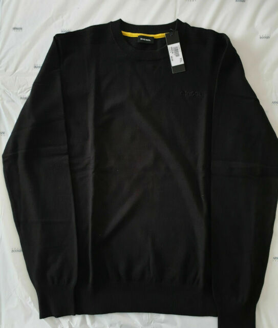 Maglione diesel uomo 3t in cotone maglia maniche lunghe