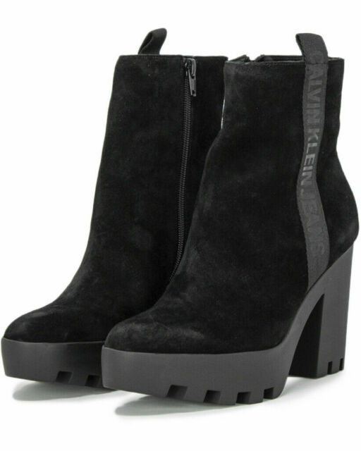 Scarpe calvin klein jeans donna serina suede re black