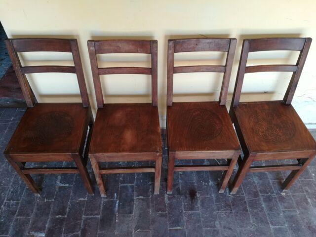 4 sedie legno massello