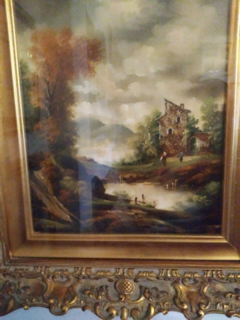 Coppia di quadri su tela di G. Natali anni 60.