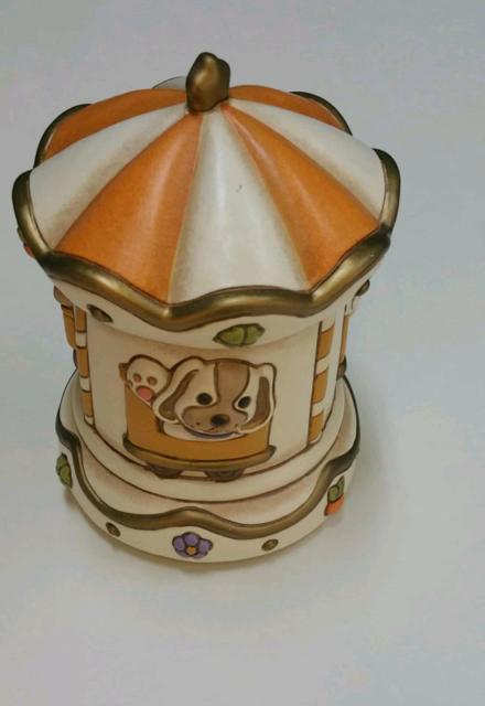 Giostra carillon in ceramica thun nuova con scatola mai