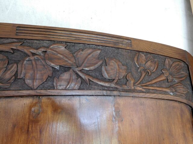LETTO LIBERTY primi 900 in legno scolpito a motivi floreali
