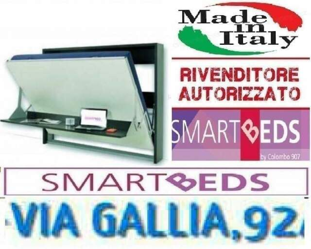 Letto Piazza e Mezza con Scrivania Dotto  M SmartBEDS