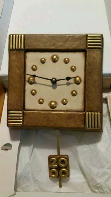 Orologio a pendolo in ceramica thun nuovo con scatola mai