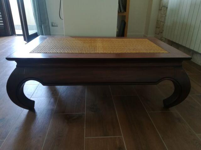 Tavolino etnico legno massello opium