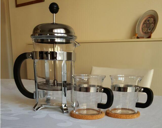 """BODUM """"Chambord"""" caffettiera e 2 tazze,"""