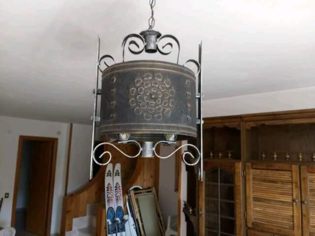 Lampadari in ferro e rame