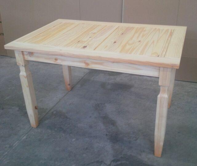 Tavolo misura 120 x 80 in legno massello naturale nuovo