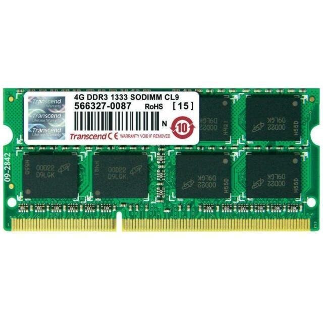 Memoria sodimm jetram 4 gb (1 x 4gb) ddr mhz cl9
