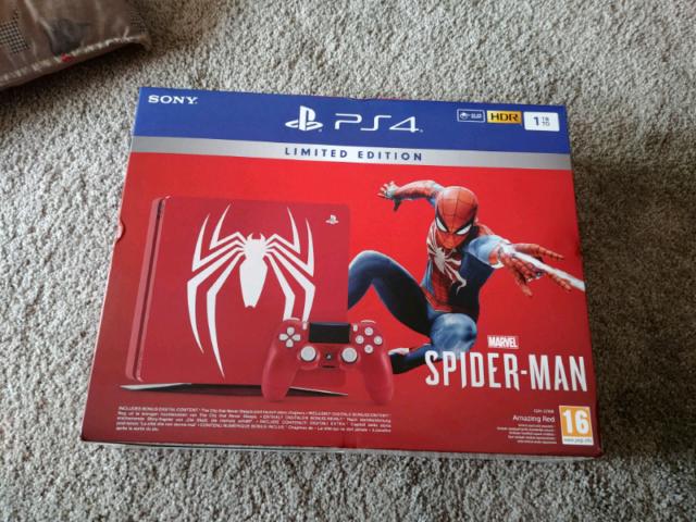 Ps4 slim 1tb spiderman limited edition + giochi ps4