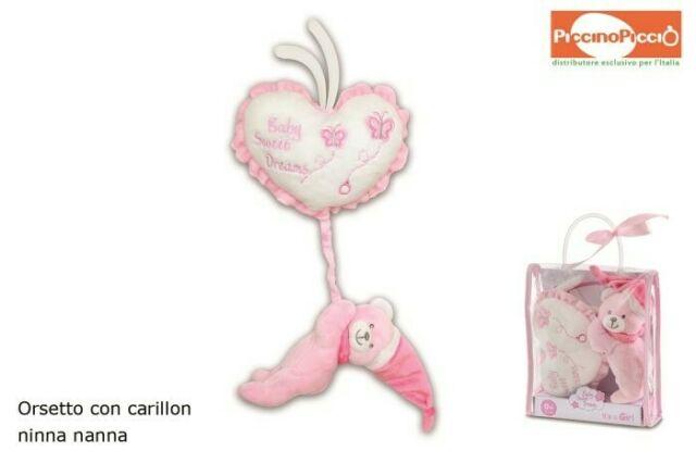 Gw jm baby orsetto c/carillon girl /f -