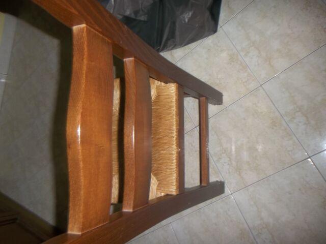 Sedie legno impagliate