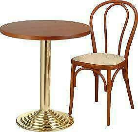 Set tavolo e sedia per bistro e bar