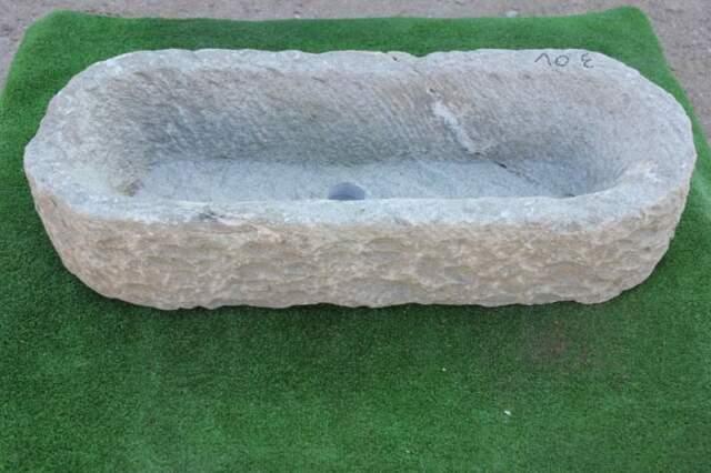 Vasca in pietra ovale 86x35 h 17 n 3 ov lavandino