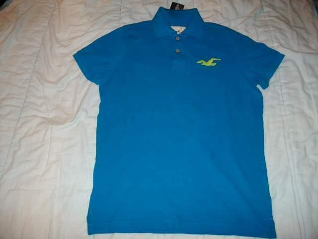 Polo Hollister, blu/azzurro, taglia XL, originale, NUOVA