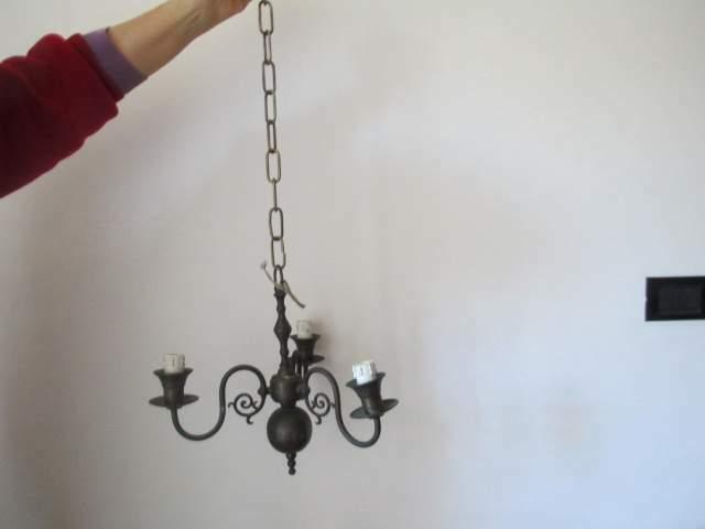 Anticolampadario in bronzo