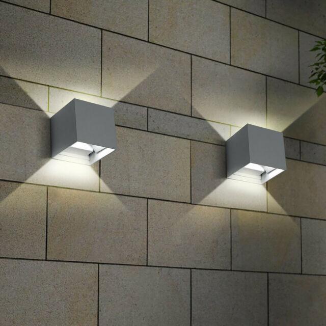 Applique cubo da esterno IPW LED  lumen grigio