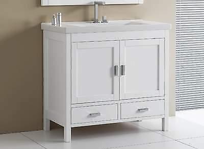 Mobile bagno + specchio in legno massiccio