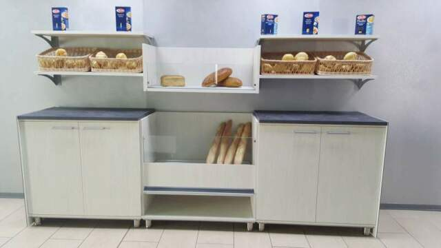 """Retro banco panetteria """"colombo"""" da 3 mt. con mobile pane e"""