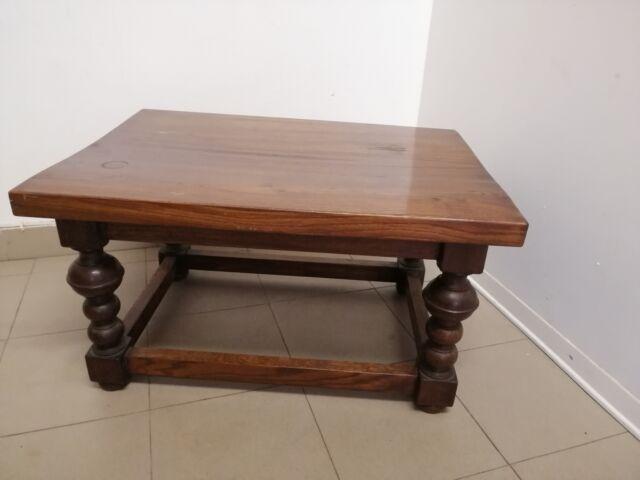 Tavolo da salotto in legno massello 60x57x44