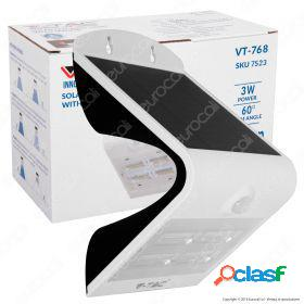 3W LED Solar Wall Light 3000K+4000K White+Black Body