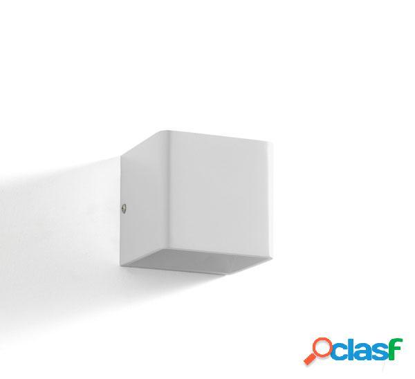 Applique Lampada da Parete Cubica Semplice Bianca