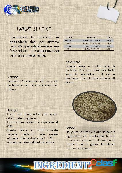 FARINA PER PESCA AL GUSTO DI SALMONE 500 gr