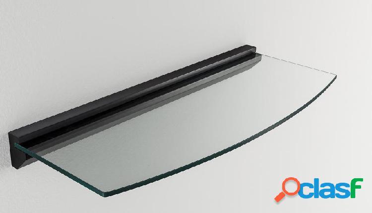 Mensola da Muro Moderna Curva in vetro e legno