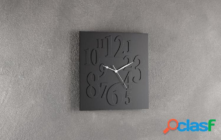 Orologio da Muro con Numeri in Rilievo Nero