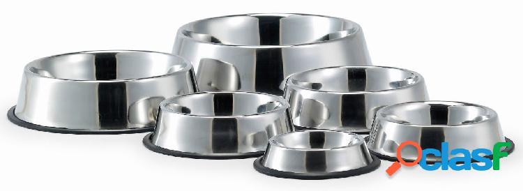 Padovan ciotola per cani e gatti in acciaio con antiscivolo