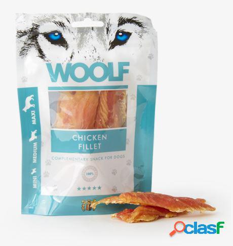 Woolf snack cani monoproteico filetto di pollo 100 gr