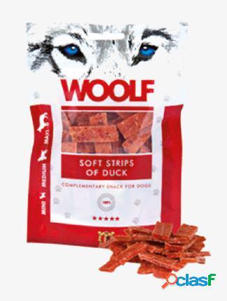 Woolf snack cani monoproteico strisce morbide di anatra 100