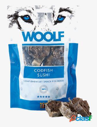Woolf snack cani monoproteico sushi di merluzzo 100 gr