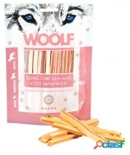 Woolf snack cani sandwich morbido di pollo e merluzzo 100 gr