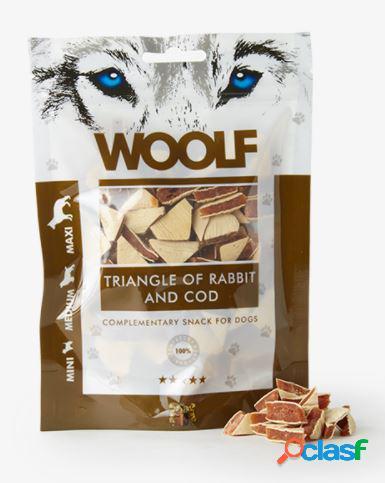 Woolf snack cani triangolini di coniglio e merluzzo 100