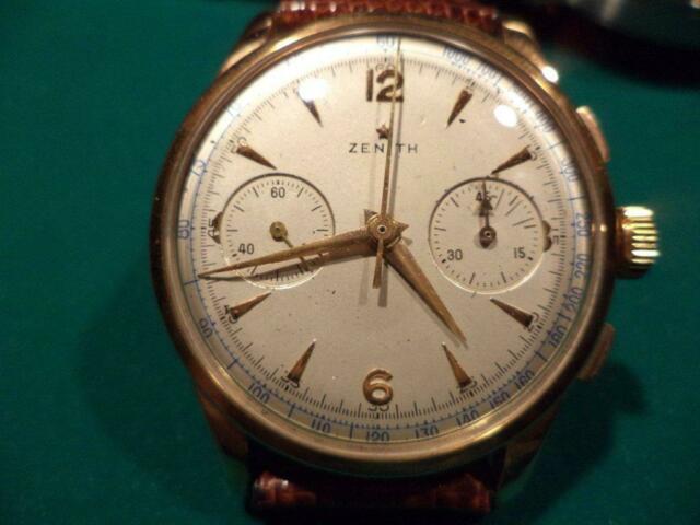 Cronografo in oro Zenith movimento meccanico
