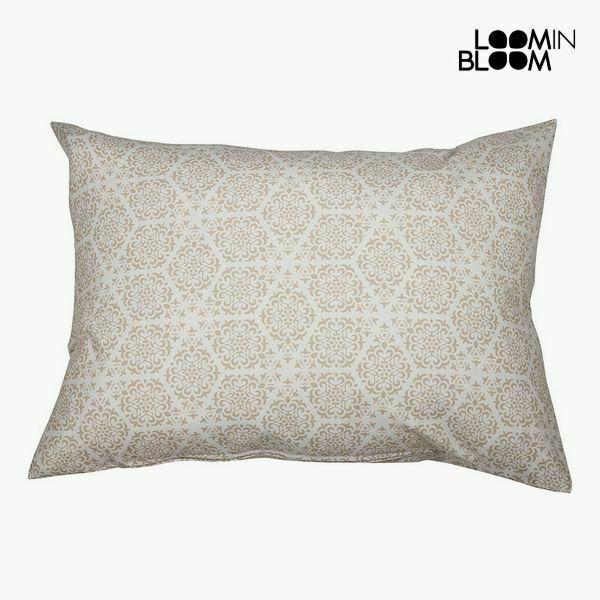 Cuscino cotone e poliestere beige (50 x 70 x 10 cm) by loom