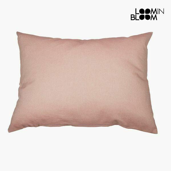 Cuscino cotone e poliestere rosa (50 x 70 x 10 cm) by loom