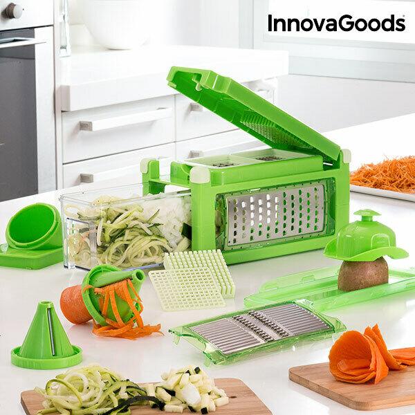 Accessorio per tagliare e grattugiare le verdure 8 in 1 con
