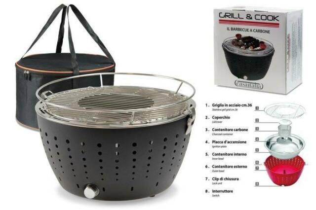 Gw jm barbecue grill&cook cm.36 antracite c -