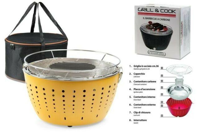 Gw jm barbecue grill&cook cm.36 giallo c -