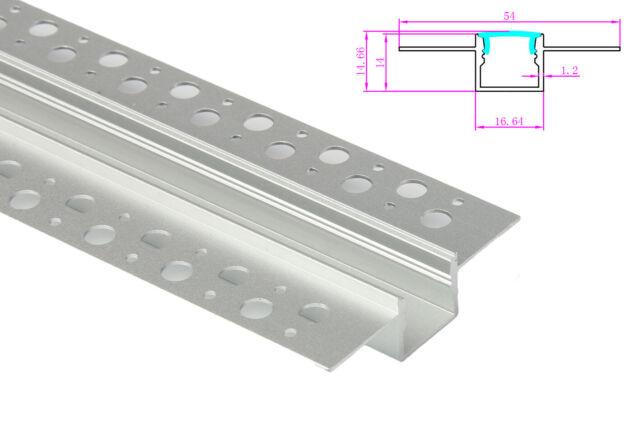 Lux ba profilo canalina barra alluminio incasso a muro