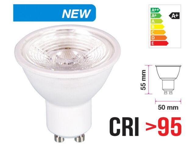 Lux guc lampada led gu10 6w cri v 38 gradi bianco