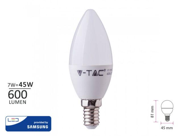 Lux lcc lampada a led e14 c37 7w 600lm bianco caldo