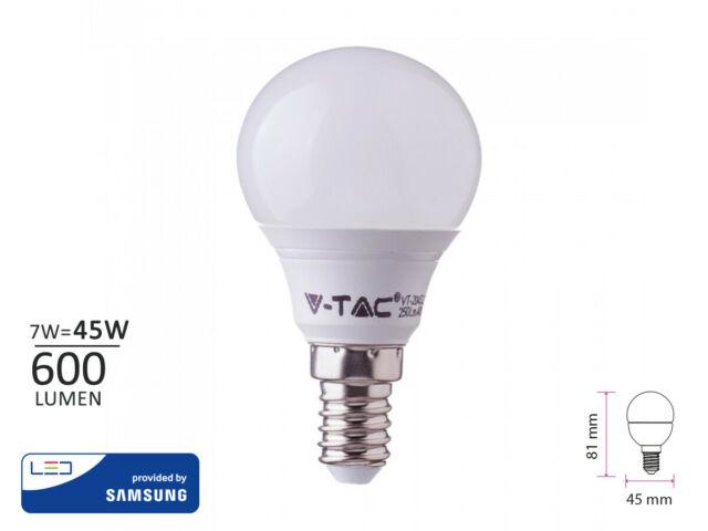 Lux lcc lampada a led e14 p45 7w 600lm bianco caldo