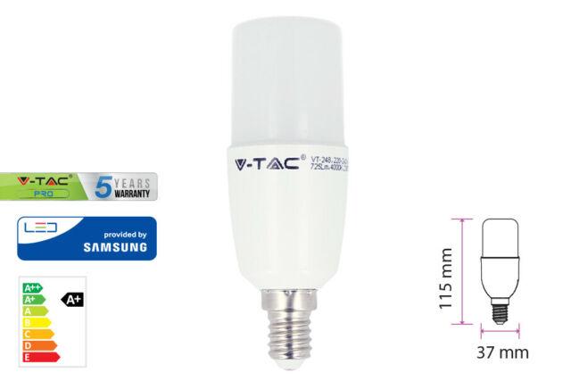 Lux lcc lampada led e14 t37 8w 220v bianco caldo forma