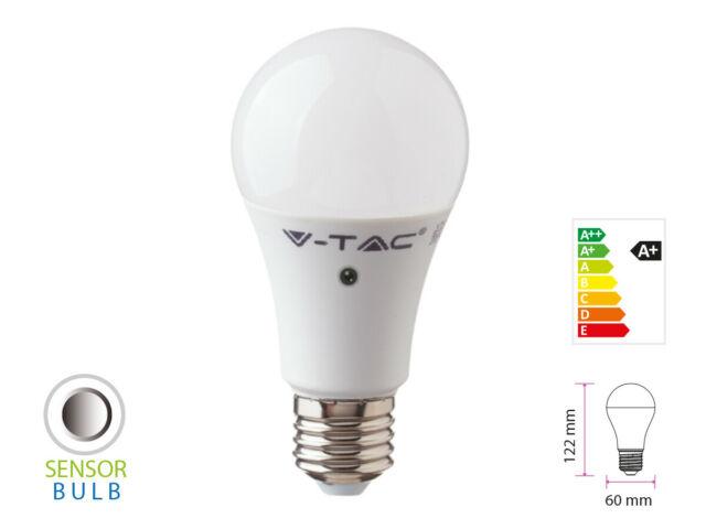 Lux lcn lampada a led e27 con sensore crepuscolare 9w