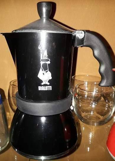 Moka Bialetti nuova originale 5 tazze nera