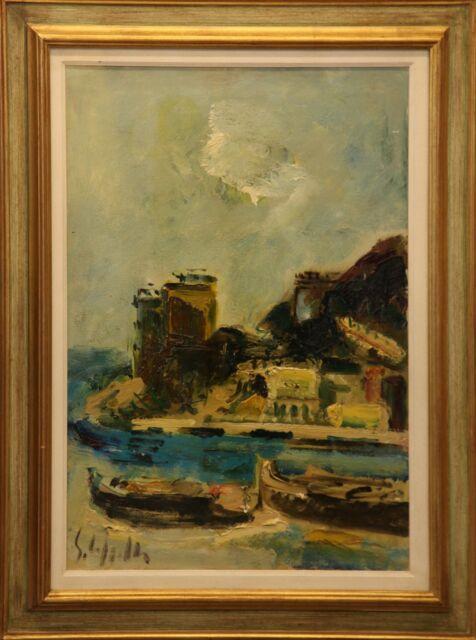 Emanuele Cappello pittore olio su tela paesaggio marino